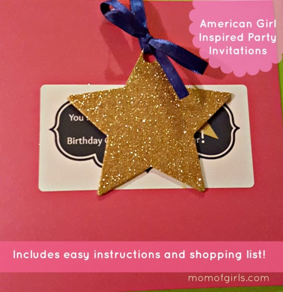 american girl inspired birthday party invitation idea