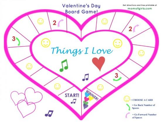 ValentinesDaypartygameforkids_board game free printable