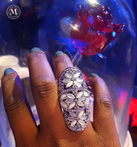 knuckle ring disney inspired beauty and beast