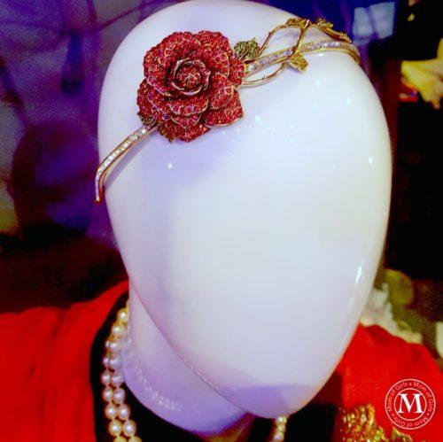 beauty and beast disney red rose headband