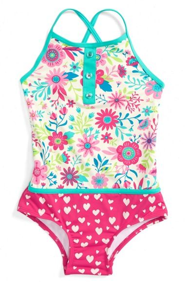 swimsuit trends for girls mixed prints