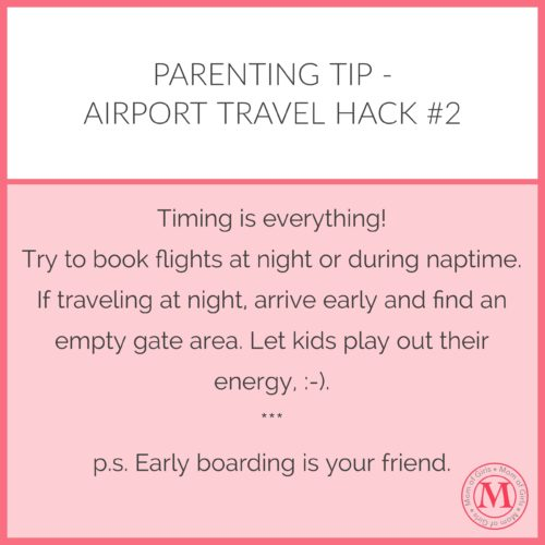 how to fly with kids travel tip