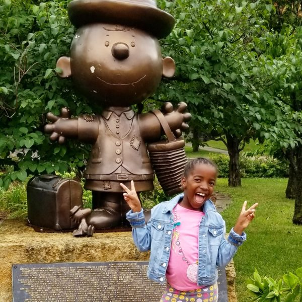 Charlie Brown statue in St Paul