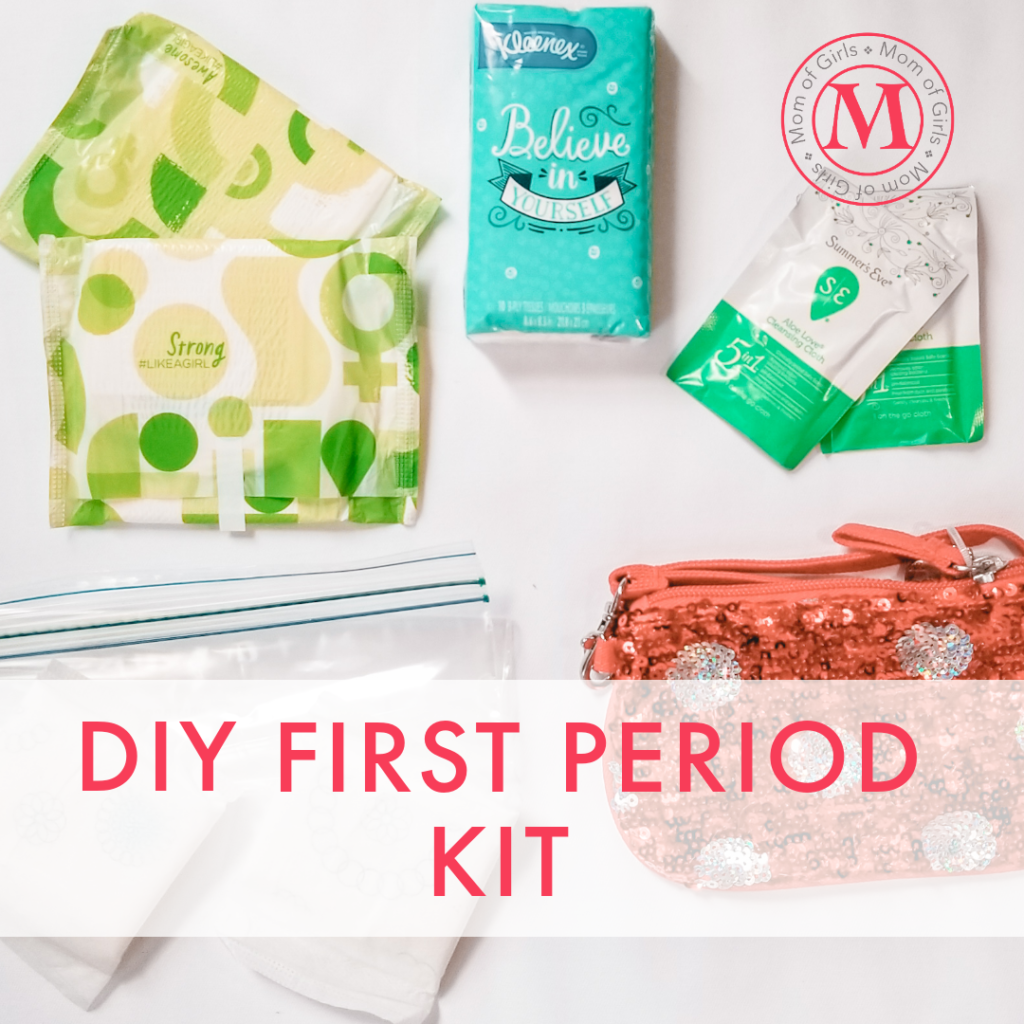how to make a first period kit for your daughter from mom of girls