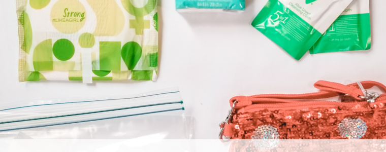 What to put in a first period kit for your daughter
